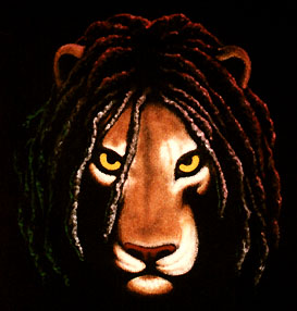 Depiction of the conquering lion of the tribe of judah